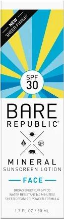 Bare Republic Mineral Face Lotion Spf 30