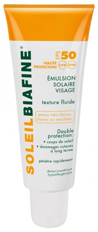 SoleilBiafine Face Sun Emulsion Fps 50