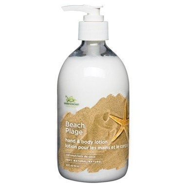 Green Cricket 100% Natural Hand & Body Lotion - Beach