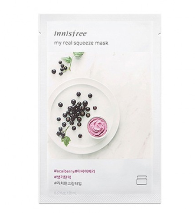 innisfree My Real Squeeze Mask Ex Acai Berry