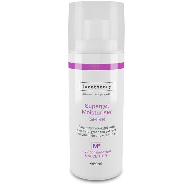 facetheory Supergel Oil-Free Moisturiser M3 For Oily And Acne-Prone Skin