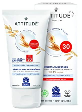 Attitude Sensitive Skin Moisturizer Mineral Sunscreen
