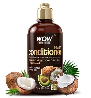 WOW skin science Virgin Coconut Oil + Avocado Oil, Hair Conditioner