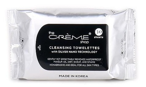 The Creme Shop Cleansing Towelettes With Silver Nano Technology
