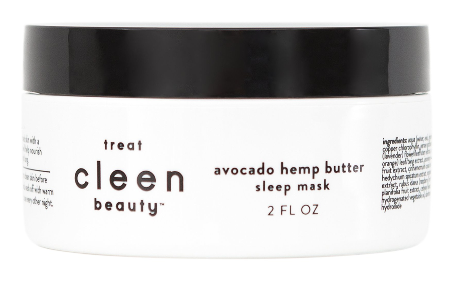 cleen beauty Sleep Mask With Avocado & Hemp Butter