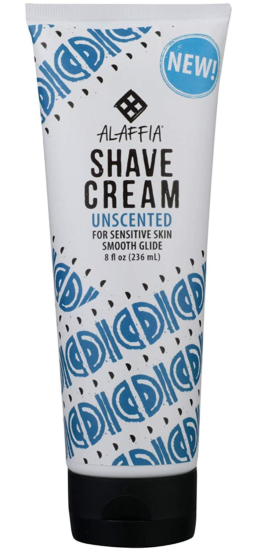 Alaffia Shave Cream Unscented For Sensitive Skin