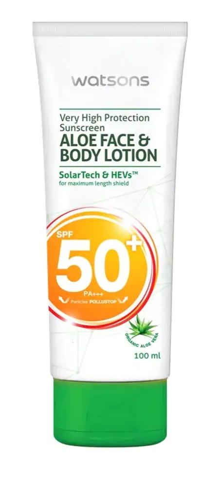 watson Aloe Face&Body Lotion Spf50+ Pa+++