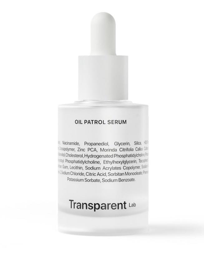 Transparent lab Oil Patrol Serum