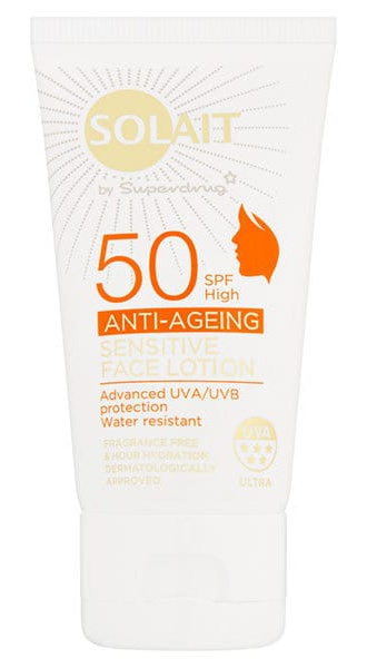 Solait Spf50 Anti-Ageing Sensitive Face Lotion