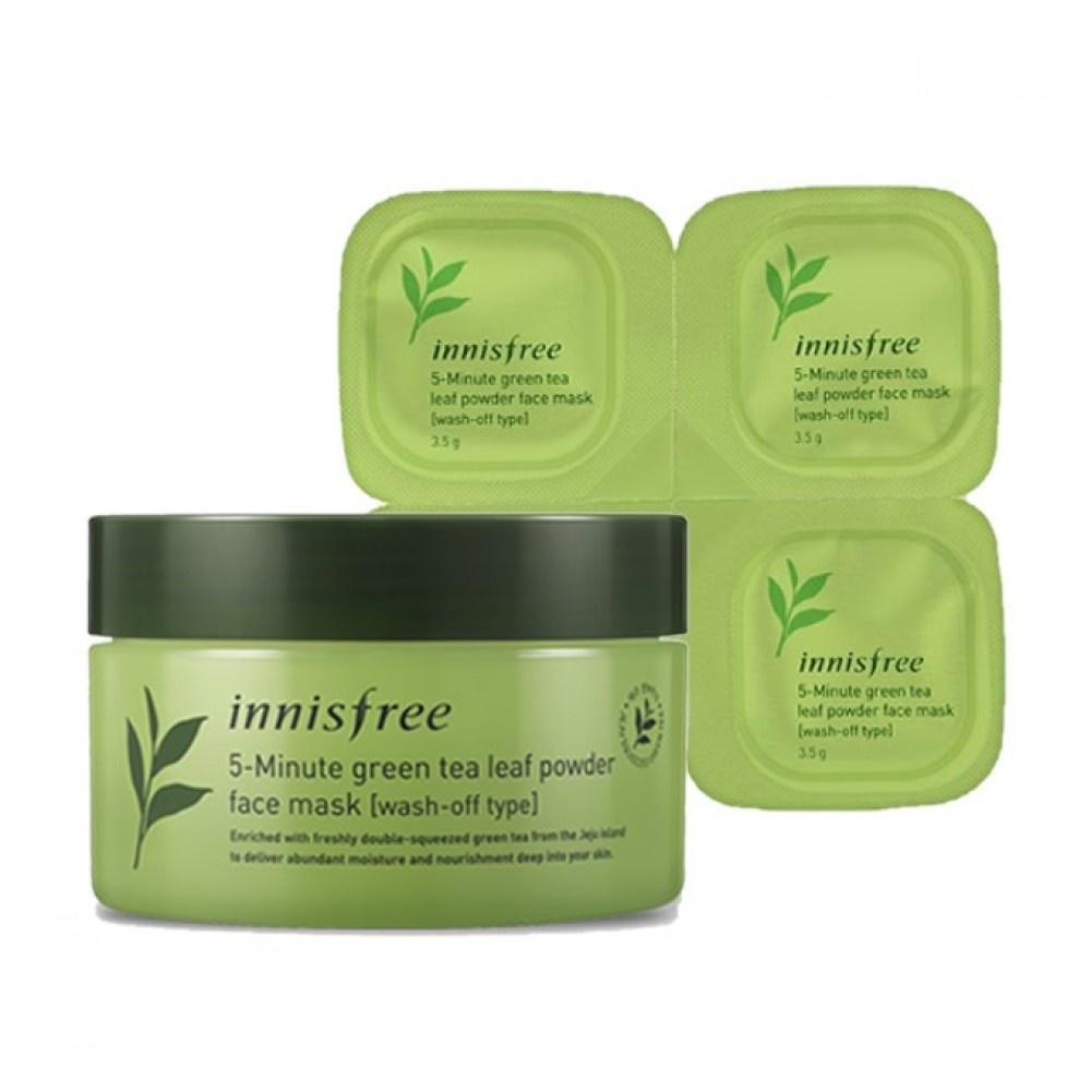 innisfree 5 Minute Green Tea Leaf Powder Face Mask
