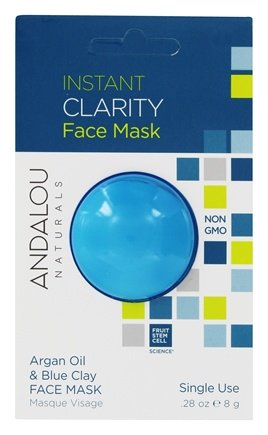 Andalou Naturals Instant Clarity Clay Face Mask Argan Oil + Blue Clay