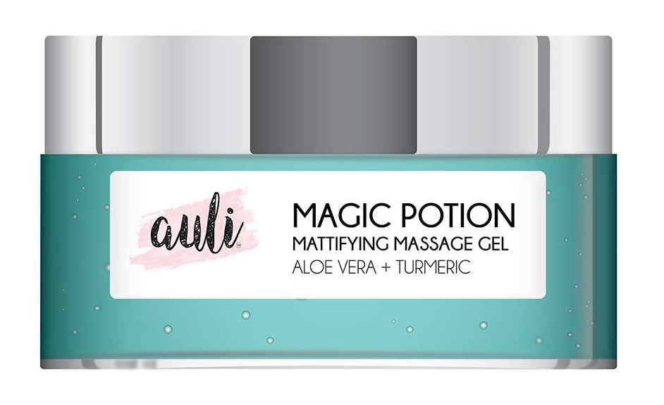 Auli Magic. Potion Mattifying Massage Gel With Aloe Vela And Turmeric