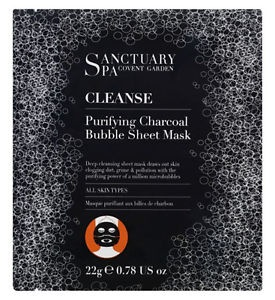 Sanctuary Spa Purifying Charcoal Bubble Sheet Mask