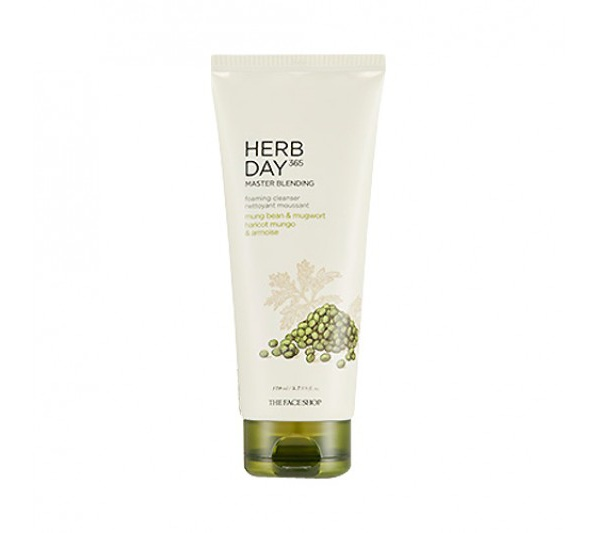 Thefaceshop Herb Day 365 Master Blending Foaming Cleanser Mungbean & Mugwort