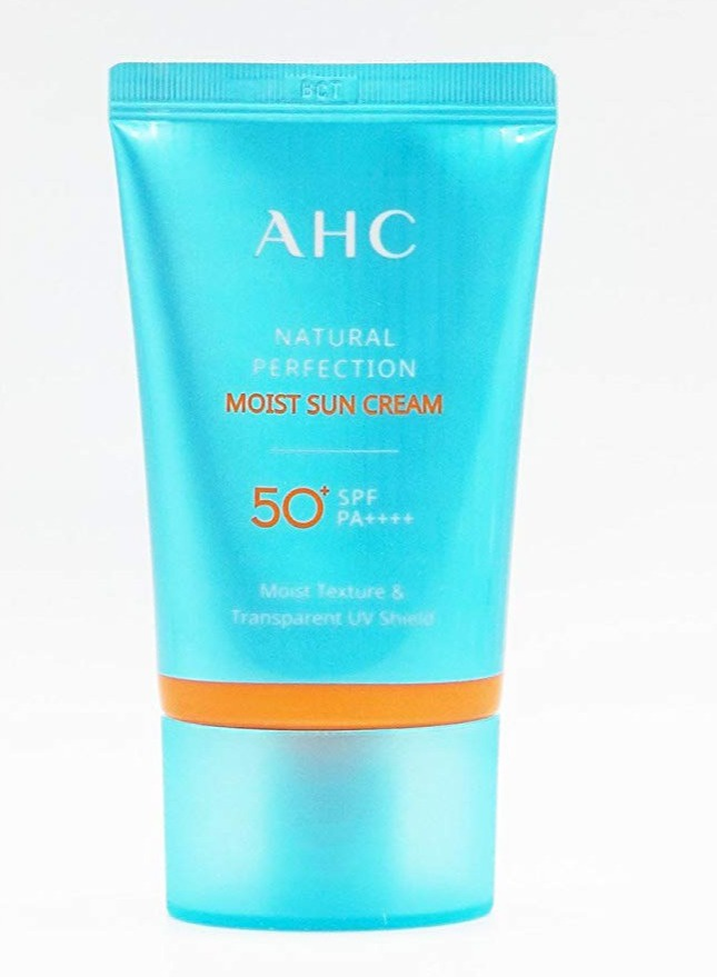 AHC Natural Perfection Moist Sun Cream Spf50+ Pa++++