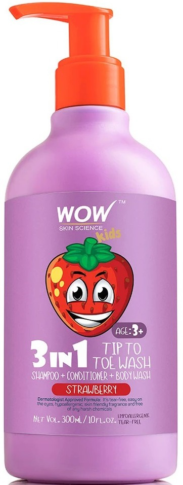 WOW skin science Kids 3-In-1 Strawberry Tip To Toe Wash