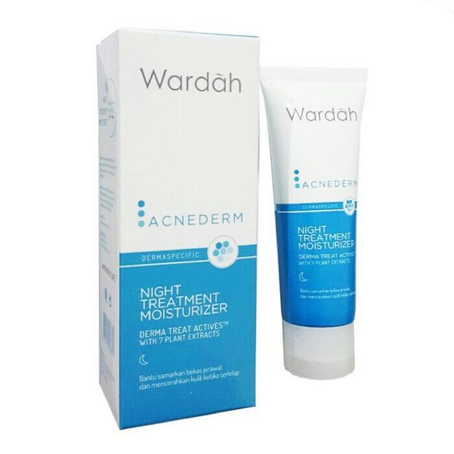 Wardah Acnederm Night Treatment Moisturizer