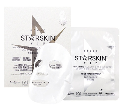 STARSKIN Vip The Diamond Illuminating Luxury Bio Cellulose Second Skin Face Mask