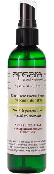 Apsara Skin Care Rose Dew Natural Facial Toner
