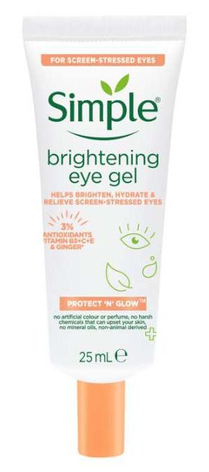 Simple Protect 'N' Glow Brightening Eye Gel