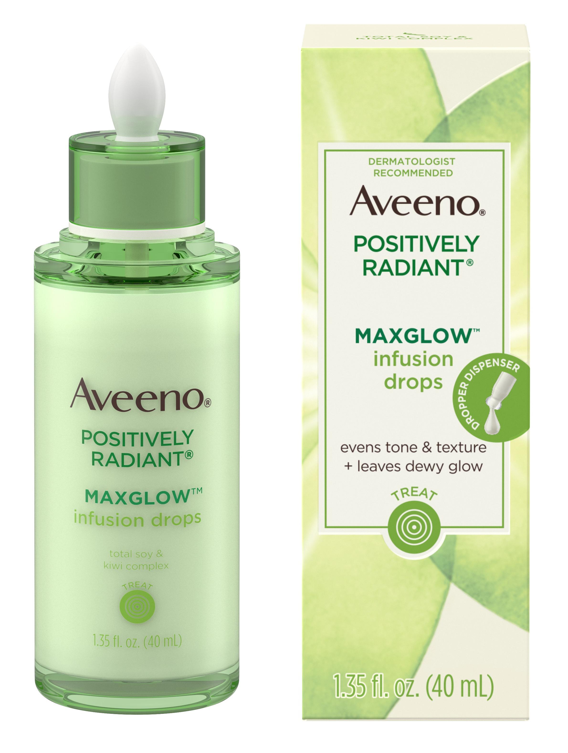 Aveeno Positively Radiant Maxglow Infusion Drops Drops