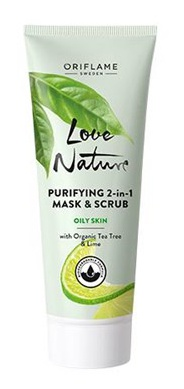 Oriflame Love Nature Purifying 2In1 Mask & Scrub For Oily Skin