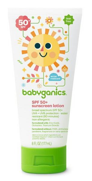 Babyganics Mineral Based Sunscreen Lotion Spf 50+