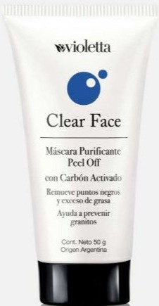 Violetta Clear Face Peel Off Mask with Charcoal