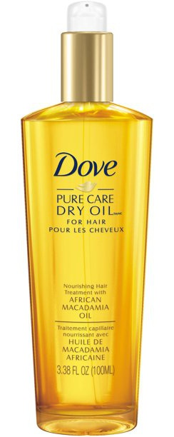 Dove Dry Oil, Pure Care Nourishing Hair Treatment With African Macadamia Oil