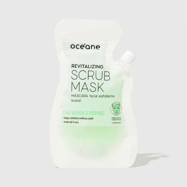 Oceane Revitalizing Scrub Mask - Máscara Facial Esfoliante Chá Verde E Pepino