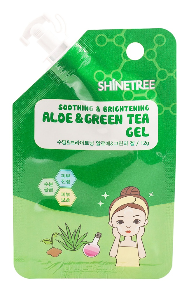 Shinetree Squeeze&Go Soothing & Brightening Aloe & Green Tea Gel
