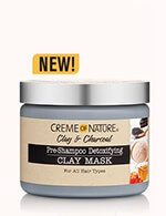 Creme of Nature Clay And Charcoal Pre-Shampoo Detoxifying Clay Mask