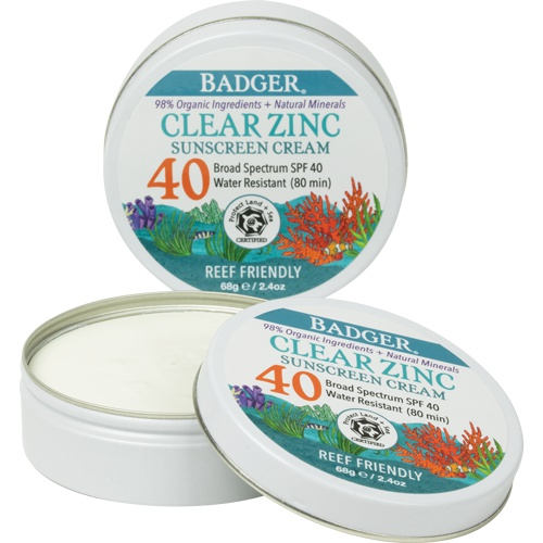 Badger Clear Sport Sunscreen Cream In A Tin - Spf 40