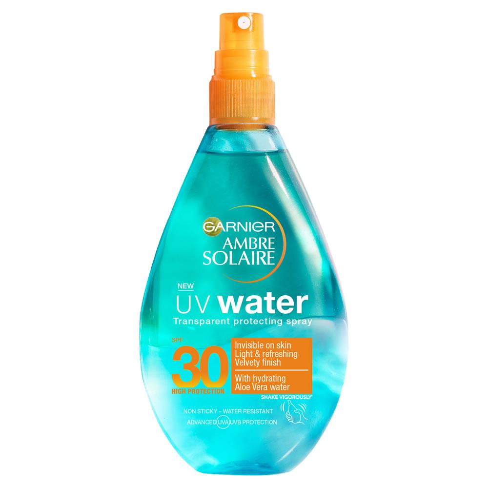 Garnier Ambre Solaire Uv Water Clear Sun Cream Spray Spf 30