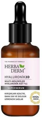 Herbaderm Hyaluronik3D Multi-Moleküler Hyaluronik Asit %1