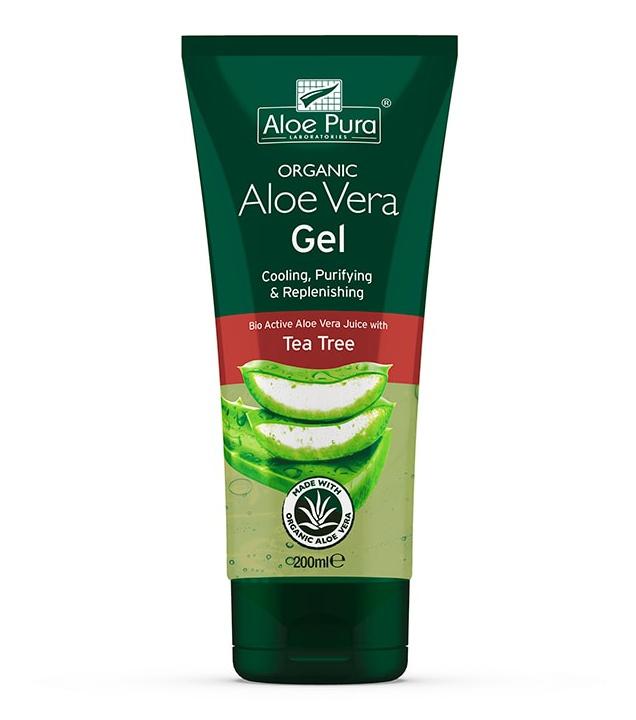 Aloe Pura Aloe Vera Gel With Antiseptic Tea Tree Oil
