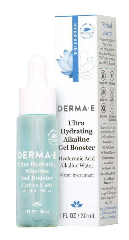 Derma E Ultra Hydrating Alkaline Gel Booster Hyaluronic Acid Alkaline Water