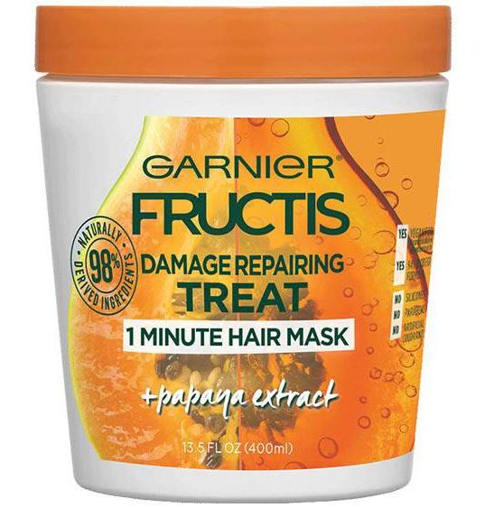 Garnier Hair Mask For Dry Damaged Hair Papaya Hair Food