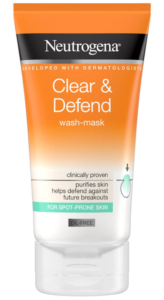 Neutrogena Clear And Defend 2 In 1 Wash Mask