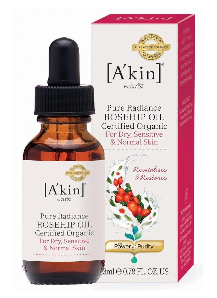 A'KIN Pure Radiance Certified Organic Rosehip Oil