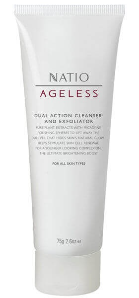 Natio Ageless Dual Action Cleanser And Exfoliator