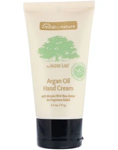 Mild By Nature Argan Oil Hand Cream With Marula Oil & Coconut Oil Plus Shea Butter - Soothing And Unscented