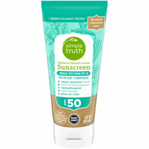 Simple Truth Mineral Based SPF 50 Sunscreen Lotion