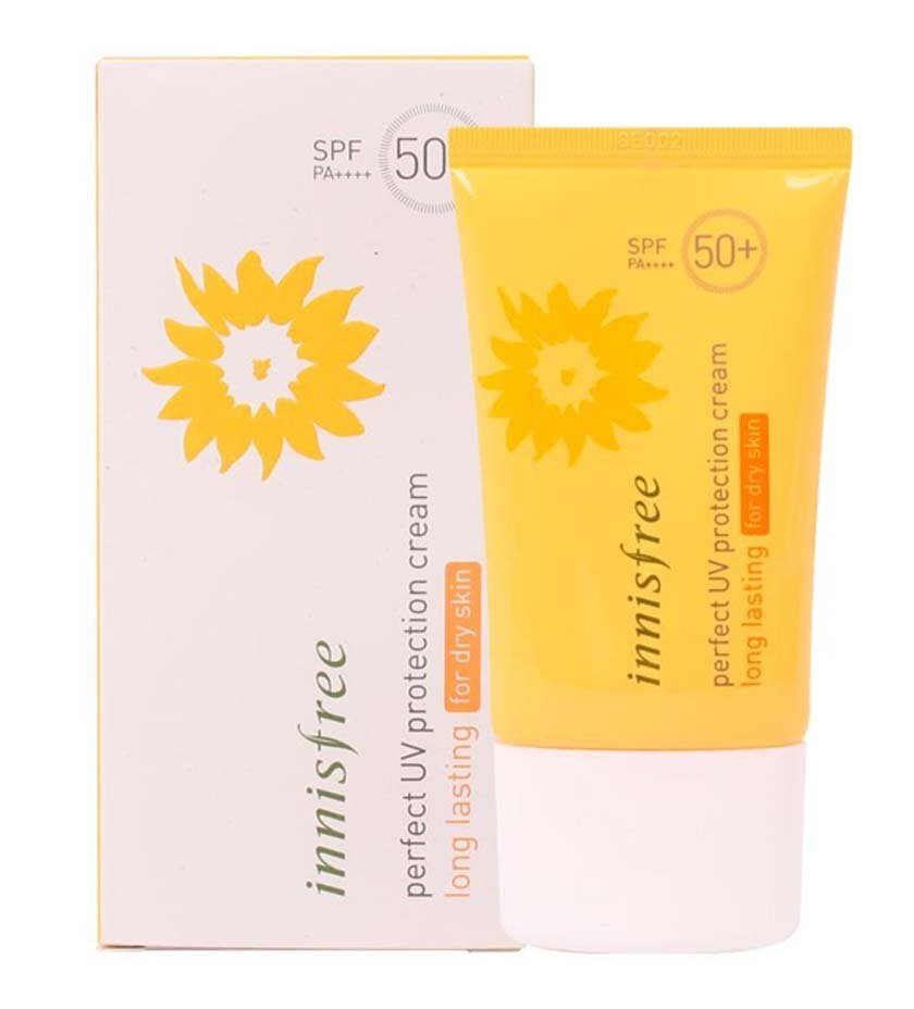 innisfree Perfect Uv Protection Cream Long Lasting Spf 50 + Pa+++ For Dry Skin