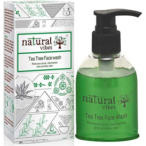 Natural Vibes Tea Tree Ayurvedic Face Wash