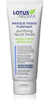Lotus Aroma Purifying Facial Mask Green Clay