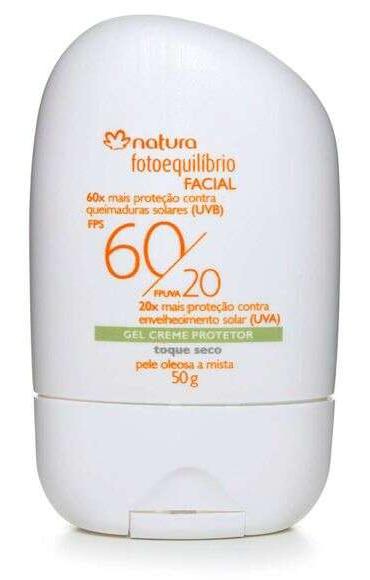 Natura Gel Creme Protetor Facial Fps 60/ Fpuva 20 Pele Mista A Oleosa Fotoequilíbrio - 50G (2020)
