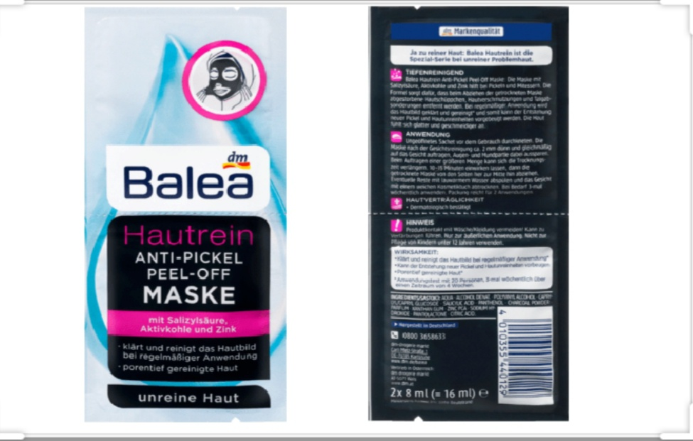 Balea Hautrein Maske Anti-Pickel Peel-Off