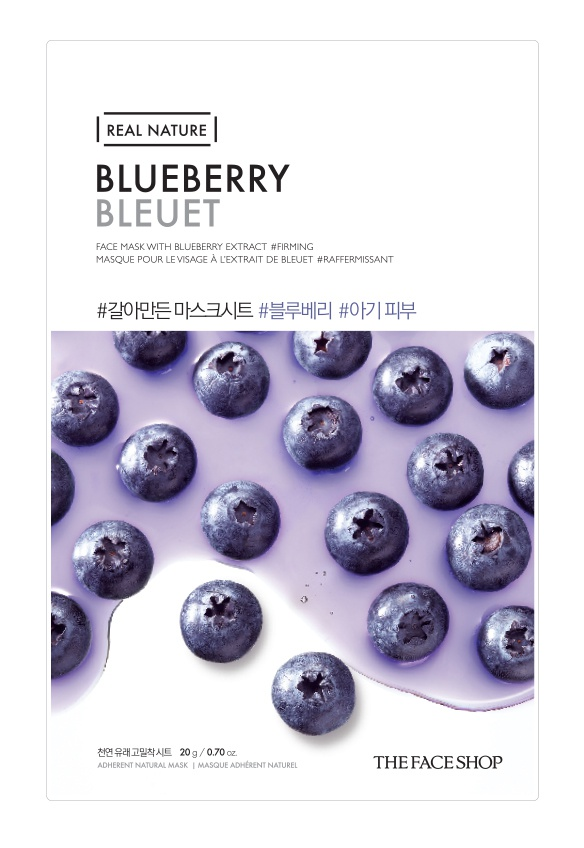 The Face Shop Real Nature Of Blueberries Sheet Mask