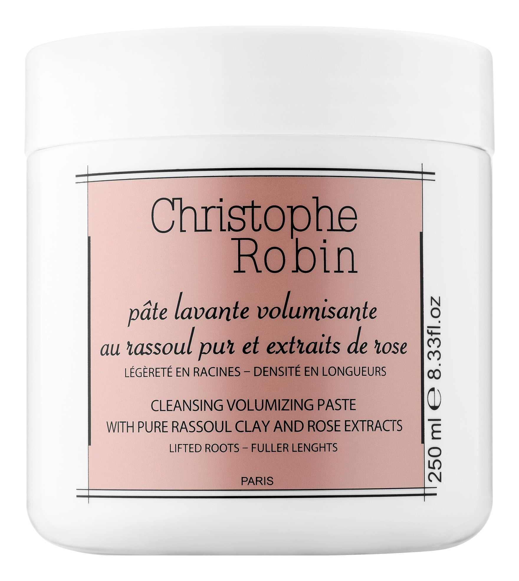 Christophe Robin Cleansing Volumizing Paste With Pure Rassoul Clay And Rose Extracts